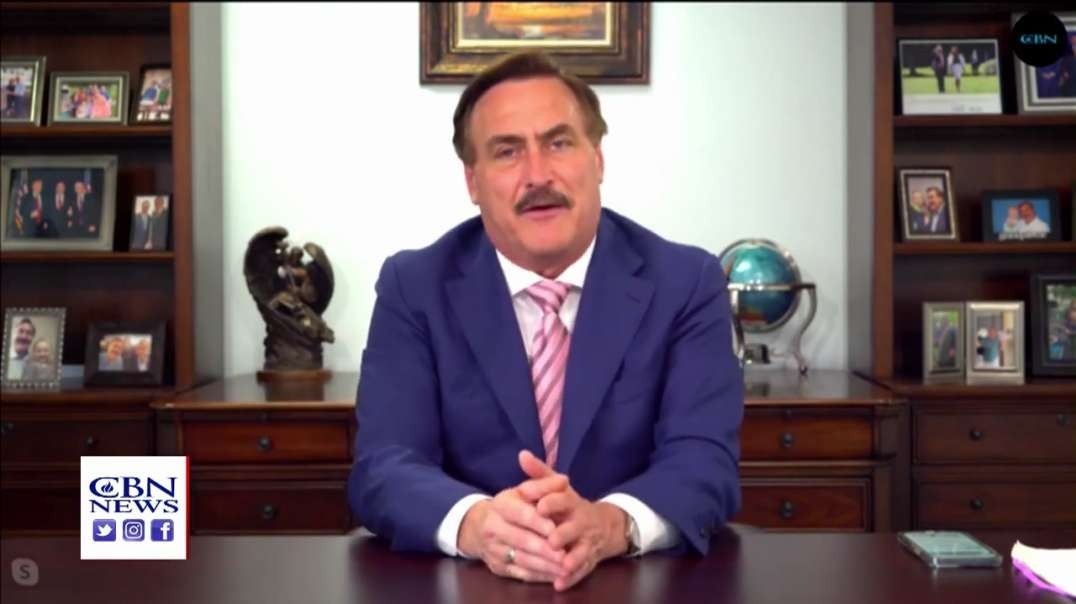 Mike Lindell CBN interview Talks about his new media platform - FRANK - NEW! 3/24