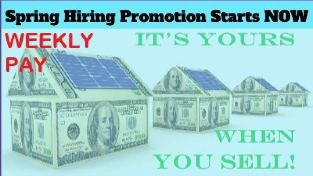 Now Hiring:   Salary + Commission Solar Sales Manager/Reps in N.J. & S.C.