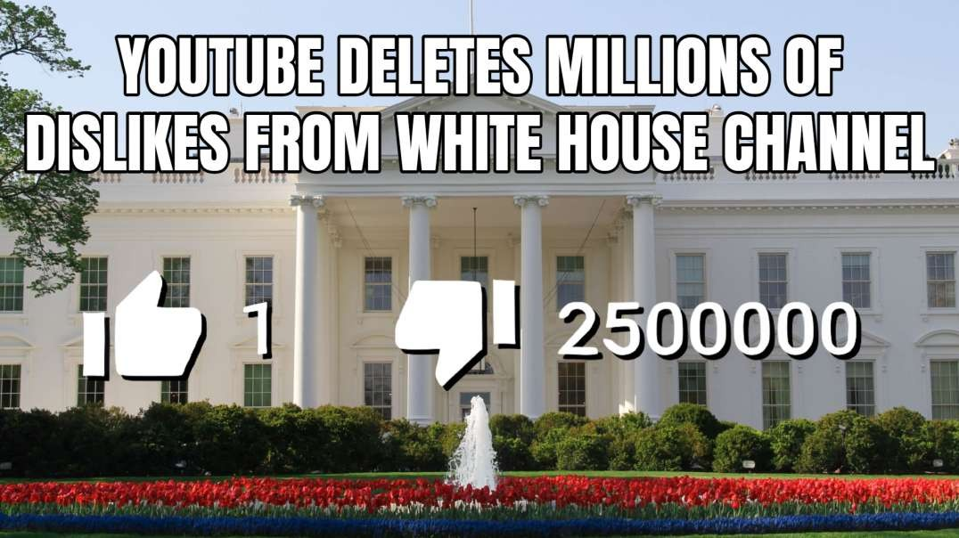 YouTube Deletes Millions Of Dislikes From White House Channel