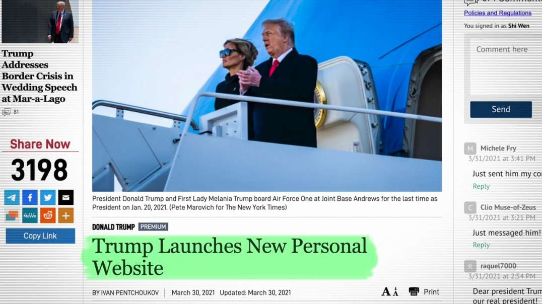 9+ Donald Trump just launched a Personal Web Site! 45office.com also update on new Media Platform! 4