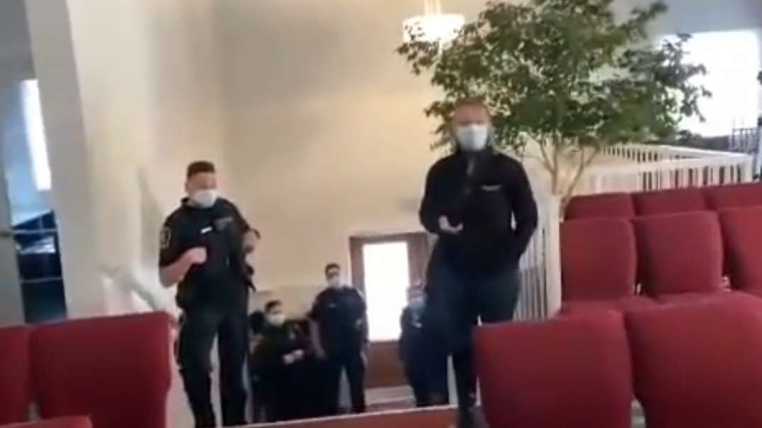 CHRISTIAN MAN EJECTS COVID TYRANNY ENFORCERS FROM CHURCH