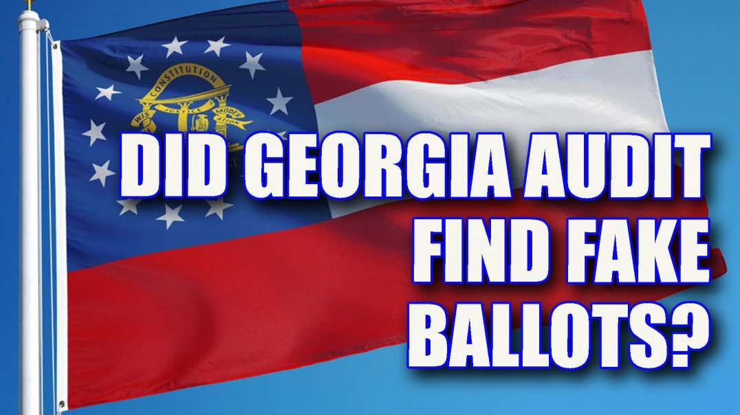 Georgia Audit Update - Did they find fake ballots?