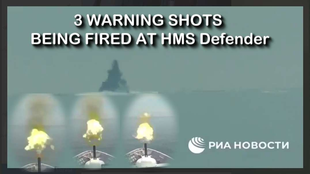 2021 JUN 26 Russia has released video of warning shots being fired at HMS Defender
