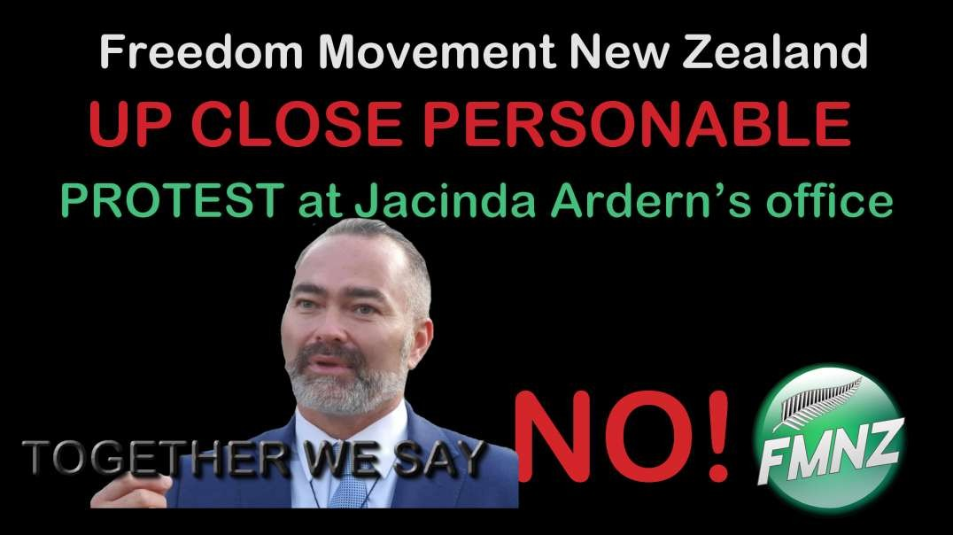 2021 JUL 15 We Face Annihilation Billy TK UP CLOSE AND PERSONABLE protest at Jacinda Ardern's o