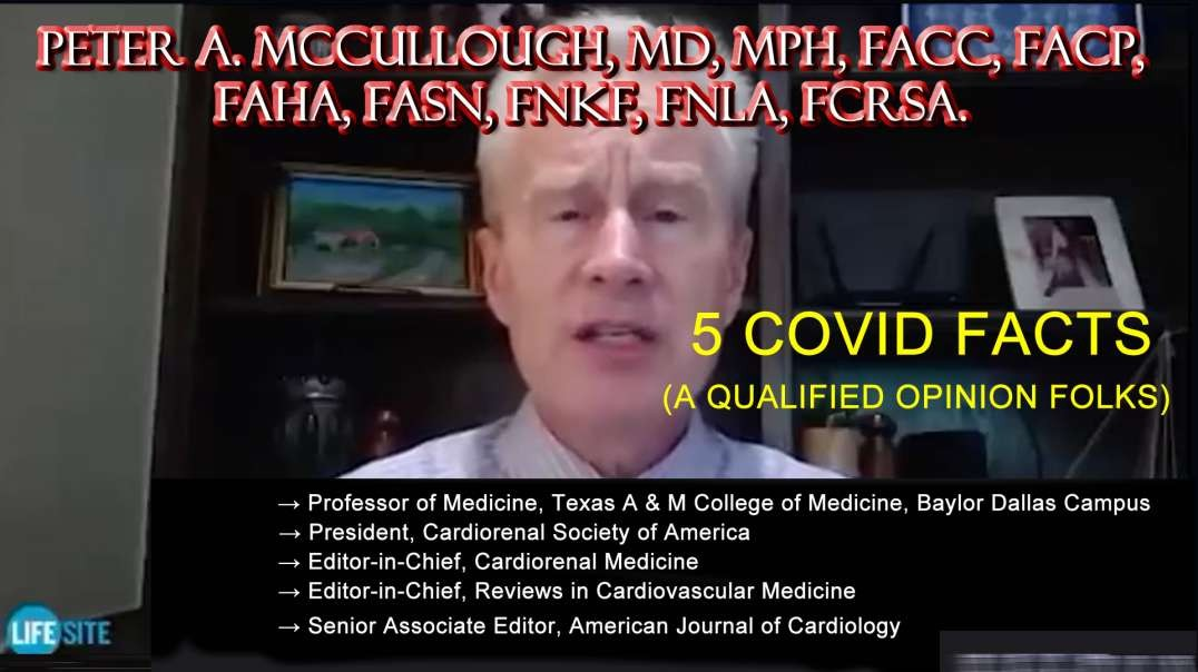 2021 AUG 12 Why are Australians Protesting Lockdowns and Vax Rollout Dr McCullough 5 CoV19 FACTS
