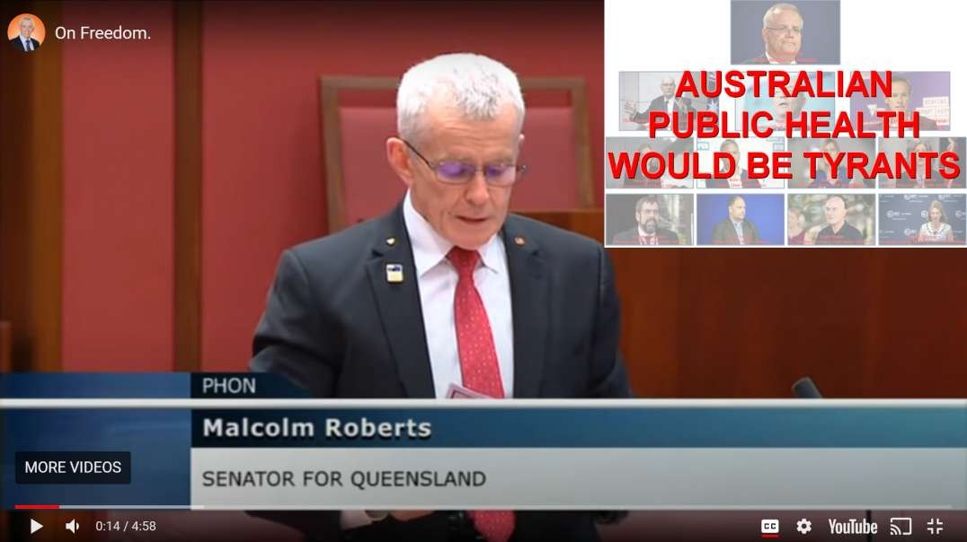 Senator Malcolm Roberts August 4th 2021 - Speaking UP for Common Sense and Australian Freedoms