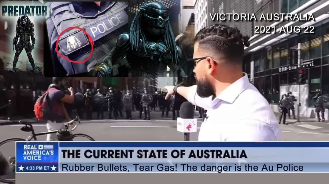 2021 AUG 22 Victorians No lockdown Rubber Bullets and Tear gas the only danger is from the AU Police