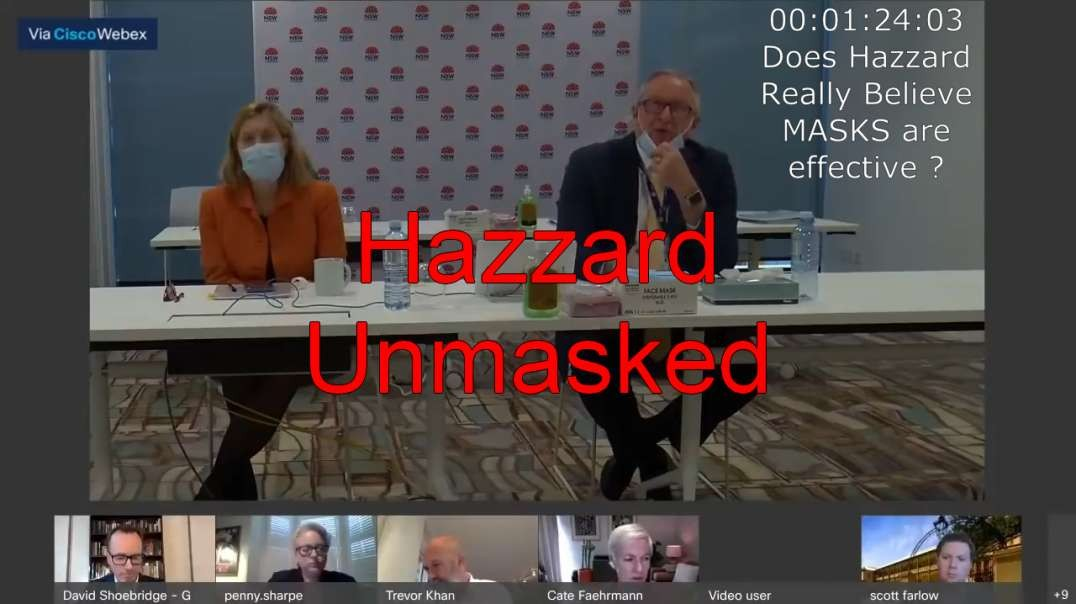 Hazzard Unmasked - 6 Minute Rant Refusing to Let Anyone Ask Questions