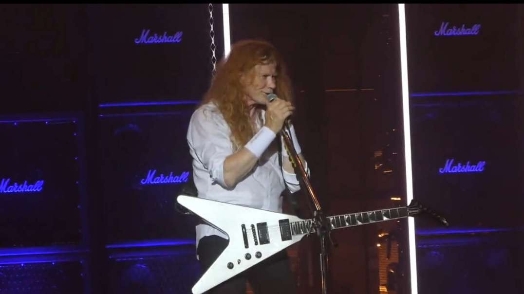 Dave Mustaine of Megadeth calling out medical tyranny in concert on Wednesday