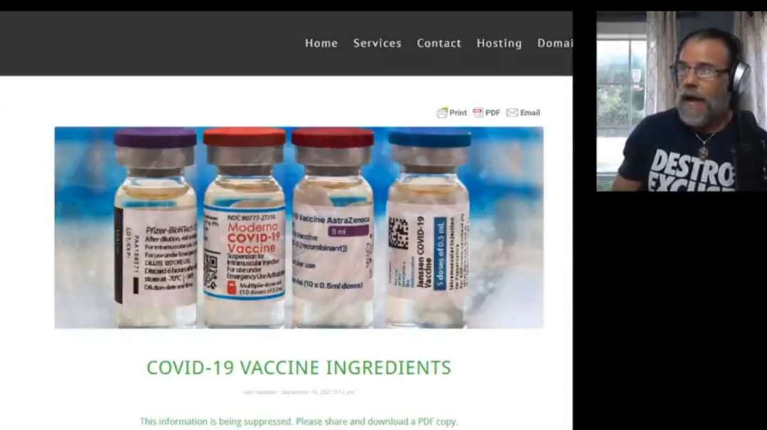 MUST SEE! VACCINE INGREDIENT LIST IDENTIFIED & EXPOSED!! GUESS WHATS IN EVERY ON