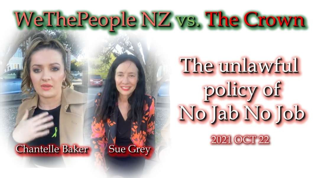 2021 OCT 22 Chantelle Baker debrief on High Court Case from Sue Grey, and reaction to Jacinda today